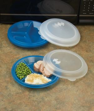 Divided Microwave Plates - Set of 4