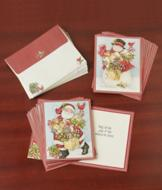 Candy Cane Snowman and Santa Cards - Set of 18