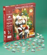 Santa and His Cats Puzzle