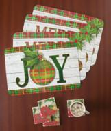 Holiday Table Placemats - Set of 4