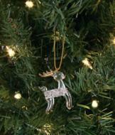 Spun Glass Reindeer Ornament