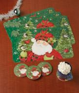 Santa Table Placemats - Set of 4