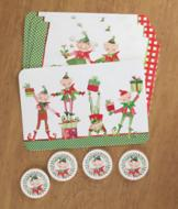 Christmas Elves Table Placemats - Set of 4