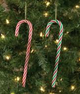 Candy Cane Ornaments - Set of 2