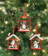 Red House Ornaments - Set of 3