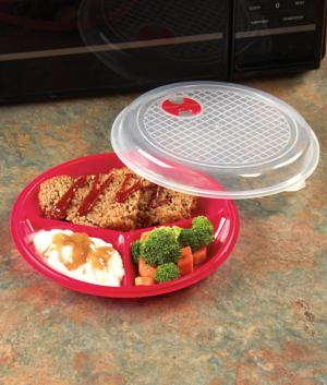 Microwave Portion Plate