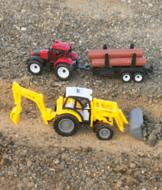 Loader Tractor with Backhoe Toy