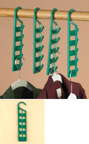 Space-Saving Vertical Closet Hooks - Set of 4