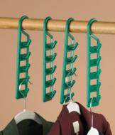 Space-Saving Vertical Closet Hooks - Set of 4