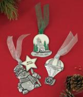 Pewter-Look Ornament - Snowman