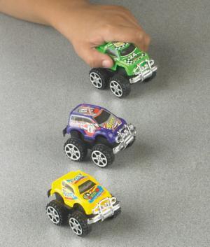 Pull-Back Mini Monster Cars - Set of 3
