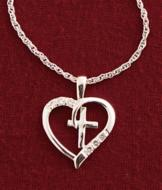 Open-Heart Cross Pendant