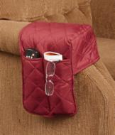 Quilted Armrest Caddy - Brown