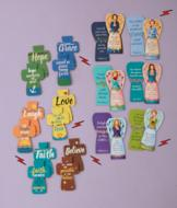 Angel and Cross Magnetic Bookmarks - Set of 12
