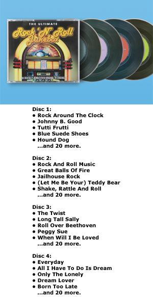 The Ultimate Rock 'N' Roll Jukebox - 4-CD Set