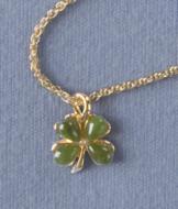 Jade Four-Leaf Clover Pendant