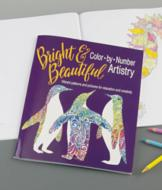 Bright and Beautiful Color-by-Number Coloring Book