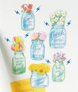 Mason Jar Magnets - Set of 6
