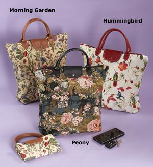 Fold-Away Tapestry Tote - Morning Garden
