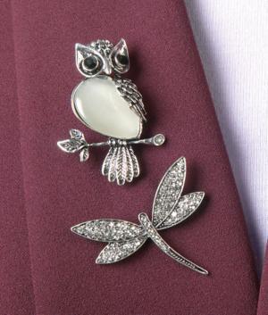 Vintage-Style Brooch - Owl