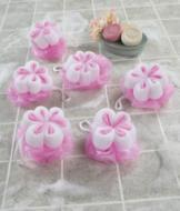 Flower Bath Poufs - Set of 6