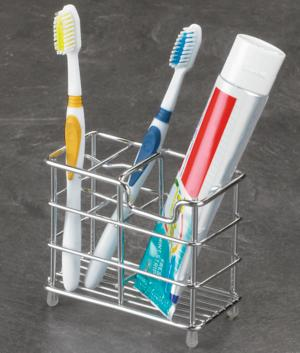 Chrome-Plated Toothbrush Holder