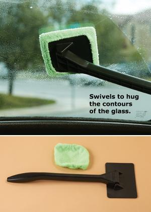 Windshield Cleaning Wand with Swivel Head