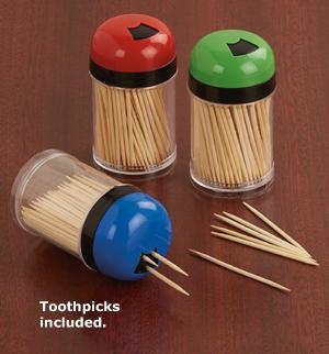 Toothpick Dispensers - Set of 3