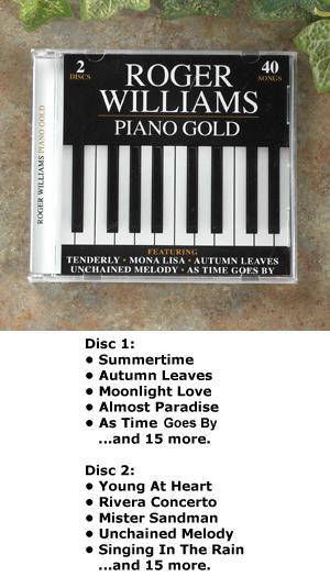 Roger Williams Piano Gold - 2-CD Set