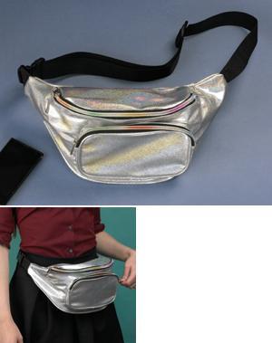 Silver Metallic Waist Pack