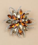 Autumn Crystal Brooch