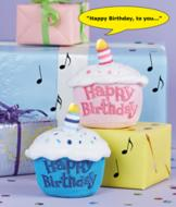 Musical Birthday Cupcake - Blue