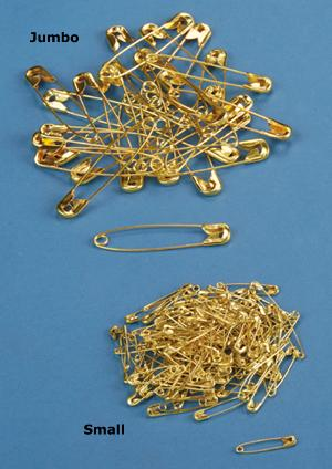 Jumbo Goldtone Safety Pins - Pkg. of 30