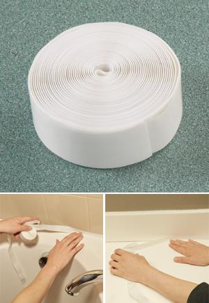 Bath and Kitchen Sealing Tape - 11-1/2'L x 3/4W