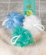 Exfoliating Bath Poufs - Set of 3