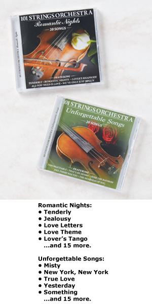 101 Strings Orchestra CD - Unforgettable Songs