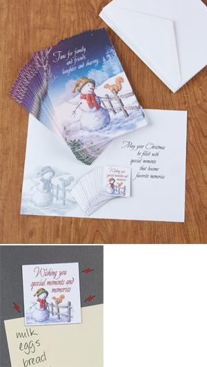 Snowman and Squirrel Holiday Cards - The Set