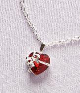 Gift of Love Beribboned Heart Pendant