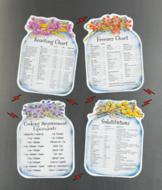 Reference Chart Magnets - Set of 4