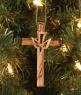 Olivewood Cross Ornament