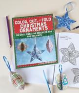 Color, Cut and Fold Christmas Ornaments - Amanda Brack