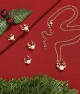 Pearl Reindeer Necklace
