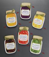 Canning Jar Magnets - Set of 3 Veggie