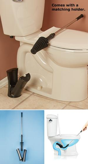 Flexible Plunger with Plastic Caddy