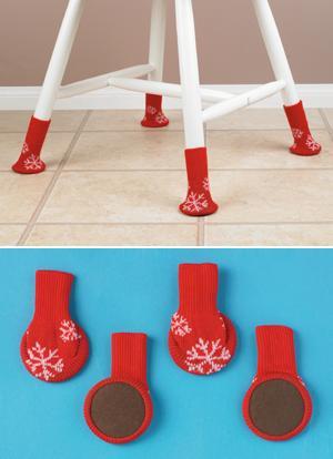 Snowflake Chair Socks - Set of 4