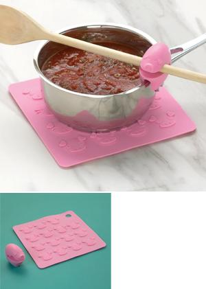 Piggy Trivet and Utensil Grip - Both