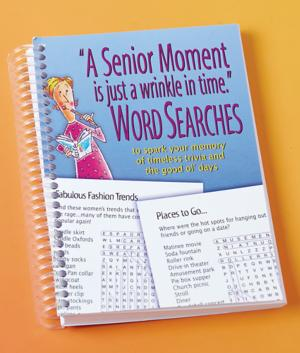 Senior Moment Word Search