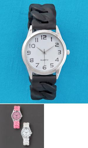 Silicone Stretch Watch - Pink