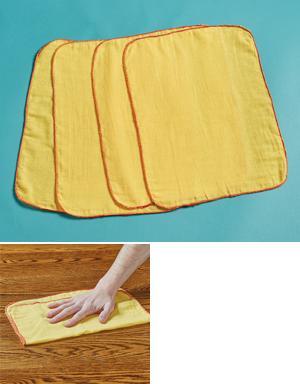 Cotton Microfiber Cloths - Set of 4