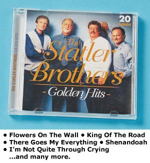 The Statler Brothers Golden Hits CD